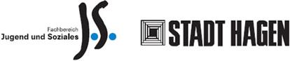 Logos: Fachbereich Jugend und Soziales, Stadt Hagen